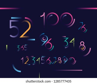 set of numbers with a gradient