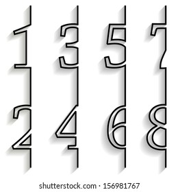 Set of numbers with long shadow