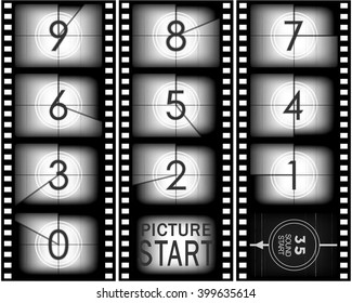 Set of numbers from old movie count down (from nine to zero)