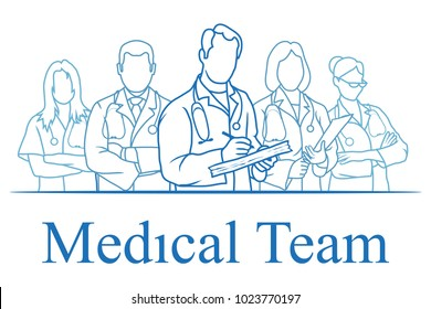 Set of nurse. Set of doctor standing in a different pose. Doctor with stethoscope. Nurse day. Health Care. Young doctor in uniform. Medicine. Doctors dressed in uniform and stethoscope. Female doctor.
