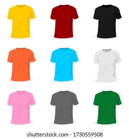 Set Object of T-shirt Mockup design. good for t-shirt template or t-shirt mockup design.