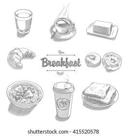 Set of objects for breakfast 2