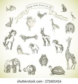 Set off patterned tribal animals
