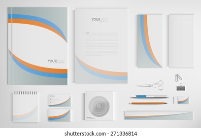 Set of office documents for business, vector Illustration.