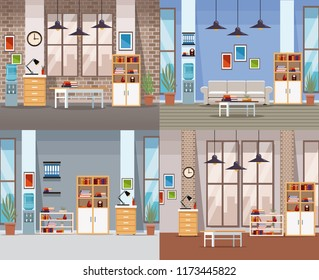 Set of office interiors