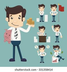 Set of office worker  , eps10 vector format