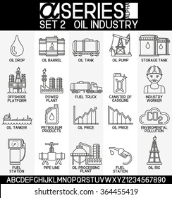 Set of oil industry icons, EPS 8