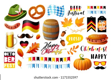 Set of Oktoberfest vector design elements. Vector EPS 10