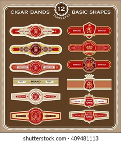 A set of old fashioned cigar labels. Perfect for use as a template for your own design