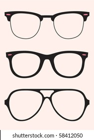 set of oldschool glasses