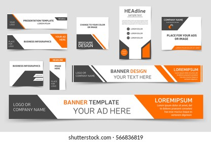 Web banner images stock photos vectors shutterstock set of orange web banners collection of banner templates for webpages vector eps10 maxwellsz