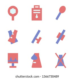 Set of Organic Chemistry , Chemical, Laboratory Flat Style Icon Vector - Vector
