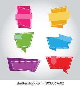 set of origami paper banners.