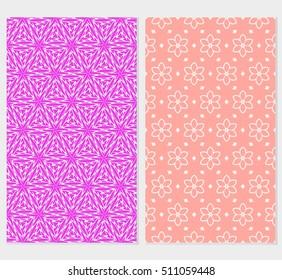 set of original floral patterns. vector illustration for design wedding invitation, background, wallpaper