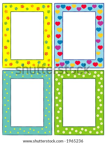 8240ab190d Set of original funny vector decorative frames. This is a vector image -  you can simply edit colors and shapes. - Vector