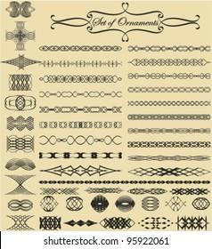 Set of ornamental & calligraphic design elements