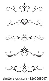 Set of ornamental decorative elements