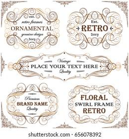 Set ornamental swirl frame design