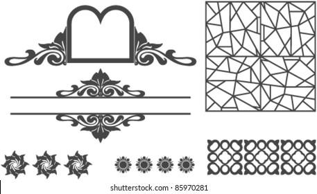 Set of ornamentation clip-arts