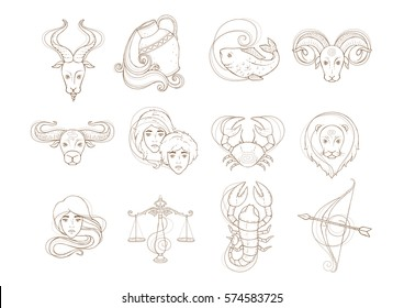 Set os zodiac signs