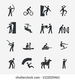 Set of Outdoor Activities Related Icons.