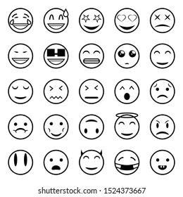 set outline emoticons emoji faces 260nw