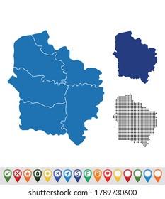 Set outline maps of Hauts-de-France