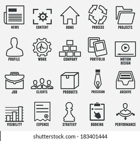 Set of outline seo and internet service icons for design - part 1 - vector icons