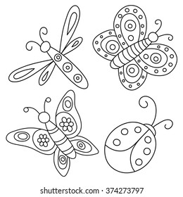 Ladybug Coloring Pages Images, Stock Photos & Vectors ...
