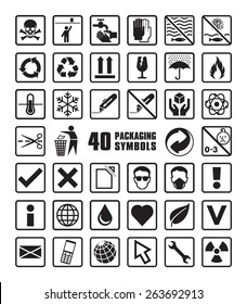 Set of Packaging Symbols in Vector Format