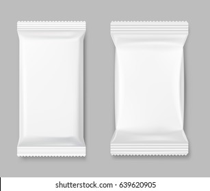 Set of packing mockup on a gray background. Vector illustration. Perfect for use template your design, promo, adv.