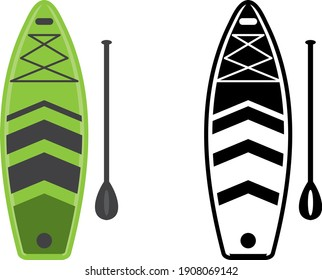 a set of paddleboard icons