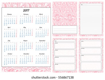 vector printable weekly planner template on stock vector royalty