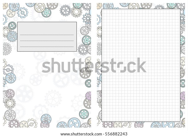 photo about Free Printable Gear Template named Established Internet pages Template Every day Planner Printable Inventory Vector