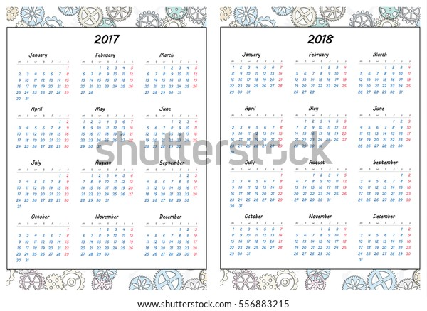image regarding Gears Printable referred to as Mounted Web pages Template Every day Planner Printable Inventory Vector