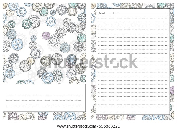 graphic relating to Free Printable Gear Template named Mounted Web pages Template Everyday Planner Printable Inventory Vector