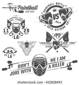 Set of paintball,paintball design,paintball tattoo.