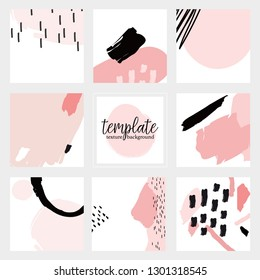 Set of  painting textures and abstract background - vector illustration