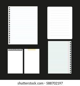 Set of paper sheets for web design