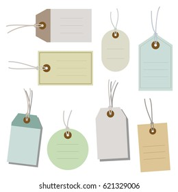 set of paper tags / vector eps10 illustration