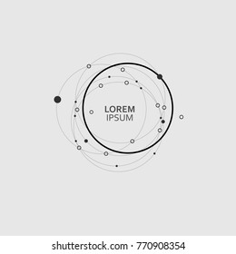 Set pattern circle abstract background. Creative design elements with round shape.