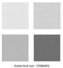 a set of patterns to create pop art comics, squares with dots evenly spaced on a geometric shape, vector template pop art