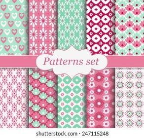 Set of patterns pink