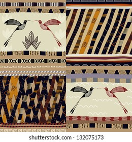 A set of patterns Tribal painting