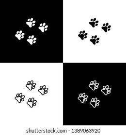 Paw Outline Images, Stock Photos & Vectors | Shutterstock