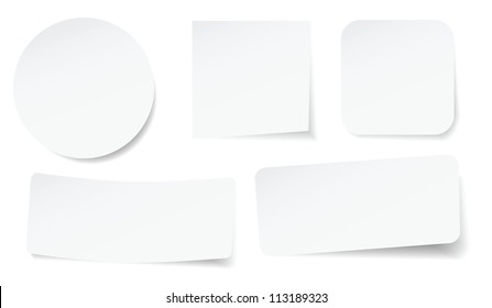 set of peeling stickers in different shape.