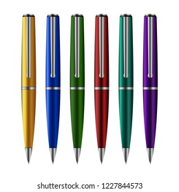 Set of pens vector design