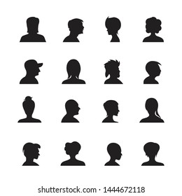 set of people avatars silhouettes, profile icon