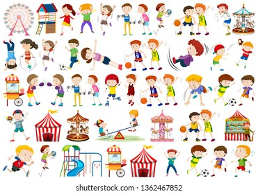 Set of people character illustration