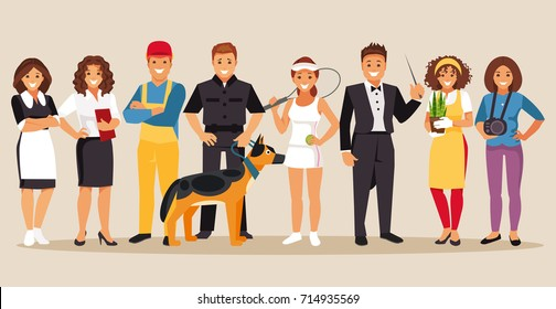 Set of people with different professions. Part 5. Vector illustration